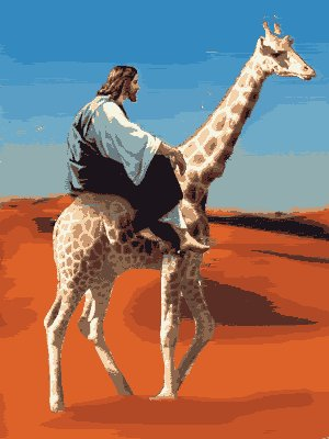 http://giraffopia.files.wordpress.com/2011/08/jesus-riding-a-giraffe.jpg